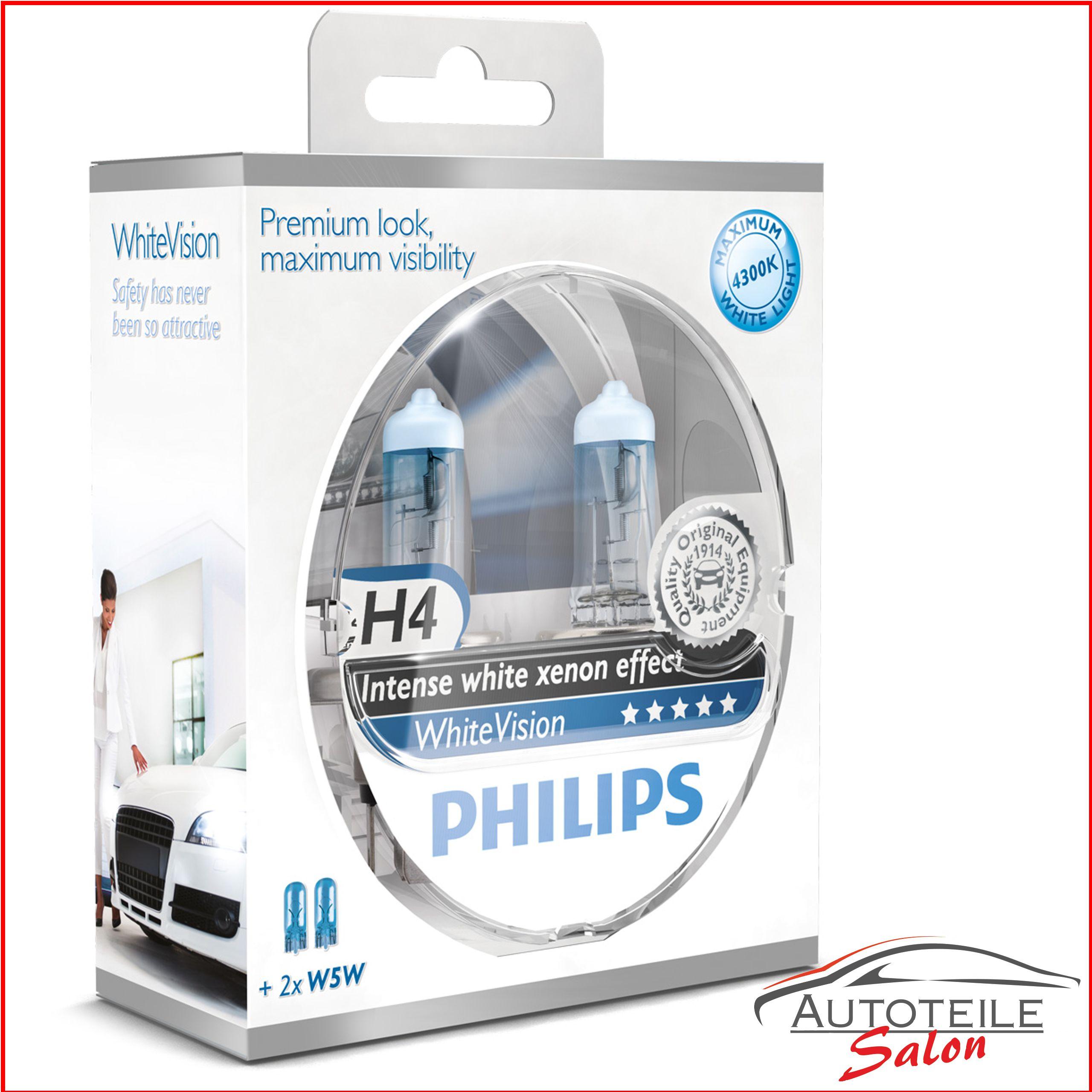 autolampen h4 whitevision 78886328 von philips. Black Bedroom Furniture Sets. Home Design Ideas